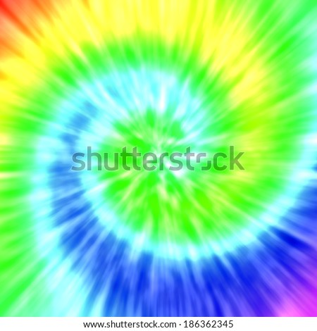 Realistic spiral tie-dye illustration - stock photo
