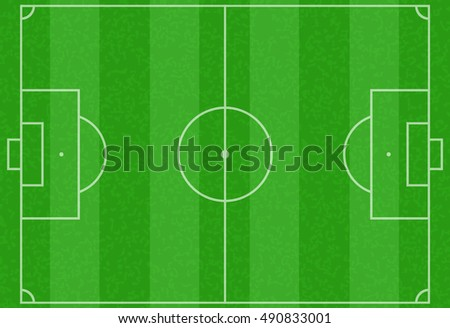 Realistic striped textured grass football or soccer field for any design  illustration