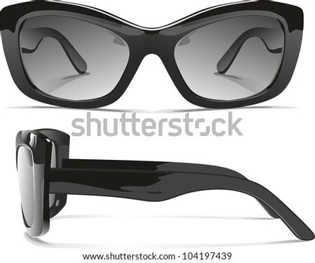 realistic sunglasses - stock photo