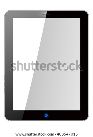 Realistic tablet pc computer with blank