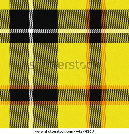 Realistic tartan or plaid texture with visible threads in bright colors - stock photo