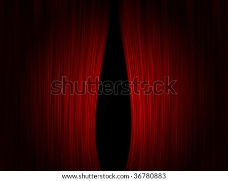 Realistic theater curtains with a spotlight.  Clipping path included for opening.