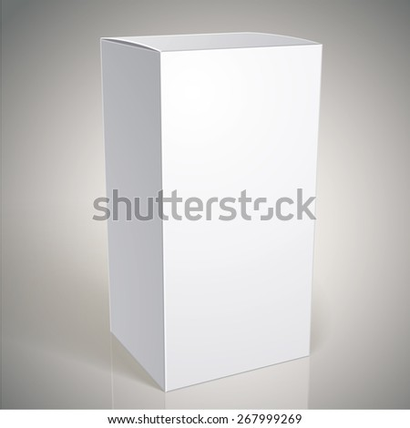 Realistic white package box for products, put your design over the pack in multiply mode - stock photo