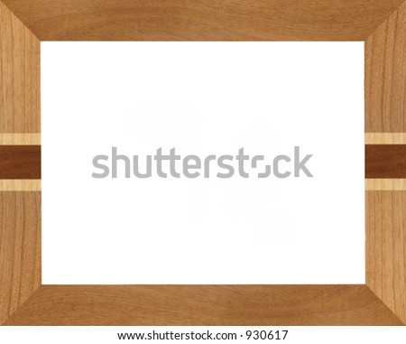 Realistic wooden picture frame. - stock photo