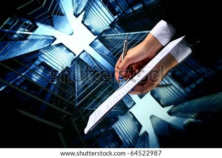 realtor professional presentation - stock photo