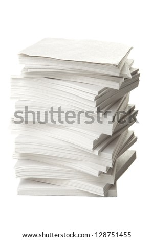 Ream of papers - stock photo