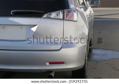Rear light closeup - stock photo