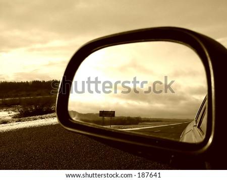Rear sepia view - stock photo