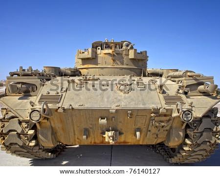 Rear view of a Desert Tank - stock photo