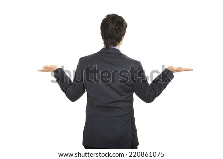Rearside of a manager - stock photo