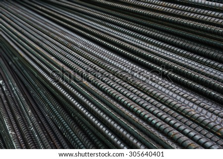 Rebars for reinforcement concrete structure in the construction site. - stock photo