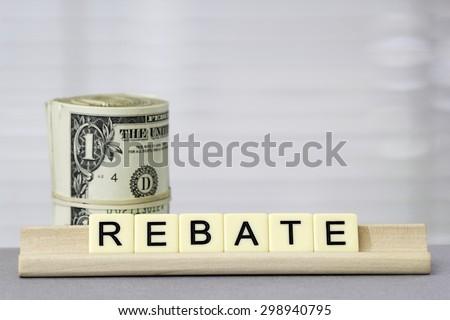 Rebate - stock photo