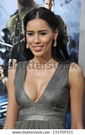 """Rebecca Da Costa at the Los Angeles premiere of """"G.I. Joe: Retaliation"""" at the Chinese Theatre, Hollywood. March 28, 2013  Los Angeles, CA Picture: Paul Smith - stock photo"""