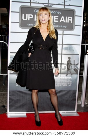"""Rebecca De Mornay at the Los Angeles Premiere of """"Up In The Air"""" held at the Mann Village Theater in Westwood, California, United States on November 30, 2009.  - stock photo"""
