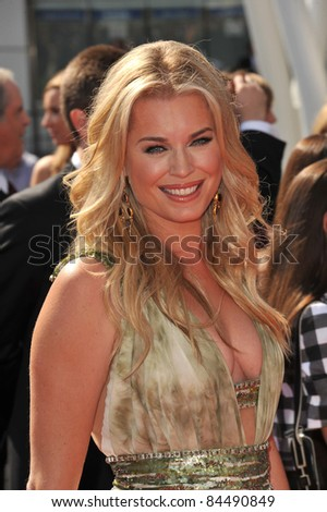 Rebecca Romijn at the 2011 Primetime Creative Arts Emmy Awards at the Nokia Theatre L.A. Live. September 10, 2011  Los Angeles, CA Picture: Paul Smith / Featureflash