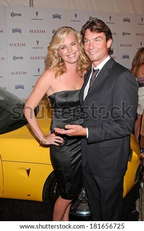 Rebecca Romijn, Jerry O'Conell at The Maxim Hot 100 Party, Gansevoort Hotel, New York, NY, May 16, 2007 - stock photo