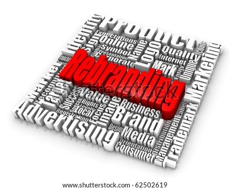 Rebranding related words. Part of a series of business concepts. - stock photo
