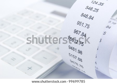 Receipt - stock photo