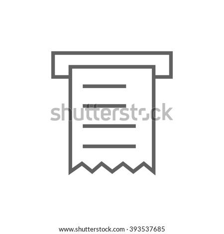 Receipt line icon. - stock photo