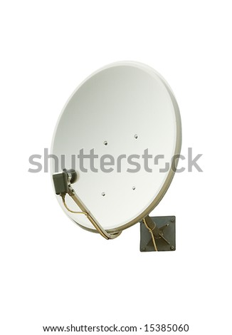 Receiver.Satelite dish - stock photo