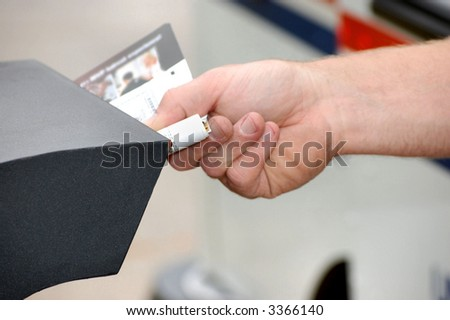 Receiving junk mail in a residential mailbox. - stock photo