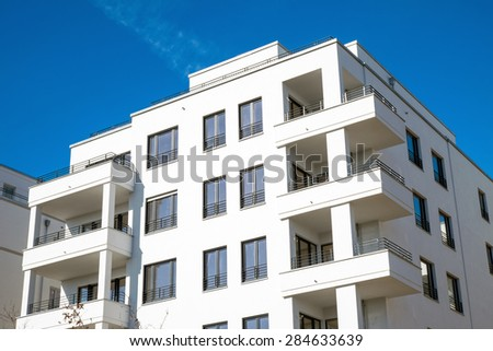 Recently constructed apartment building in Berlin, Germany - stock photo