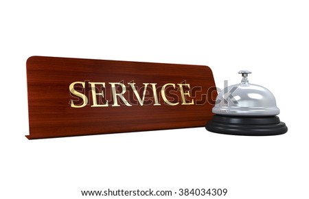 Reception Bell and Service Plate