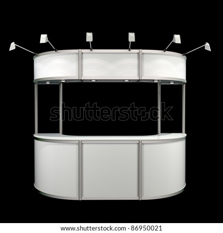 reception counter isolated - stock photo