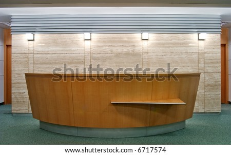 reception desk - stock photo
