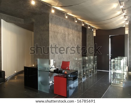 reception desk in modern office