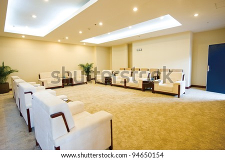 reception room in a hotel. - stock photo