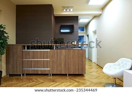 reception room interior - stock photo