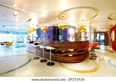 Reception room office - stock photo