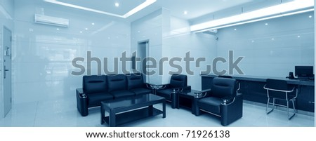 reception room office in a bank - stock photo