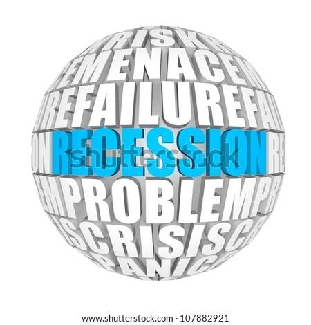 recession - stock photo