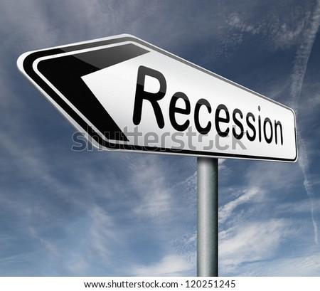 recession crisis bank and stock crash bank recession market crash arrow - stock photo