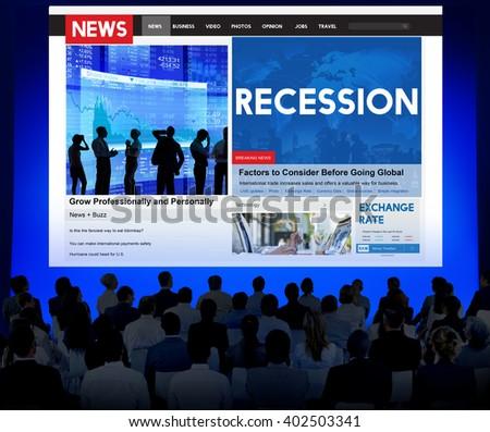 Recession Fail Crisis Crash Depression Frustration Concept - stock photo