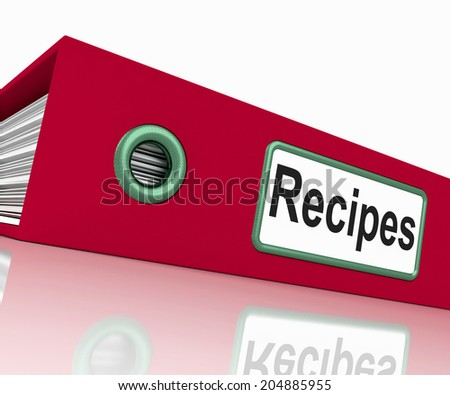 Recipes File Showing Cook Book And Files