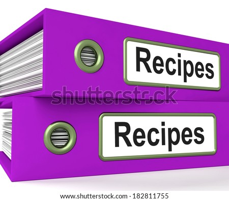 Recipes Folders Meaning Meals And Cooking Instructions