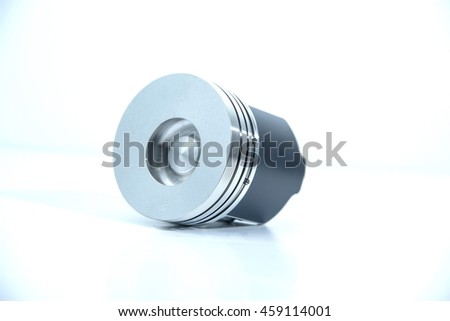Reciprocating engine tractor on a white background. - stock photo