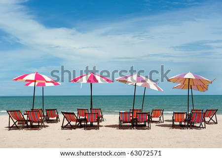 Recline chair on the beach