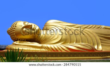 Reclining Buddha - stock photo