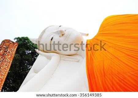 Reclining Buddha,Ang Thong in Thailand. - stock photo