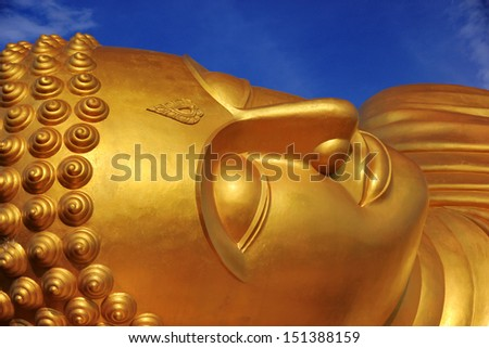 Reclining Buddha at Songkhla in Thailand   - stock photo