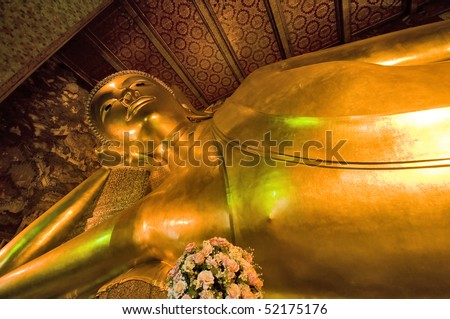 Reclining Buddha at Wat Pho in Bangkok, Thailand