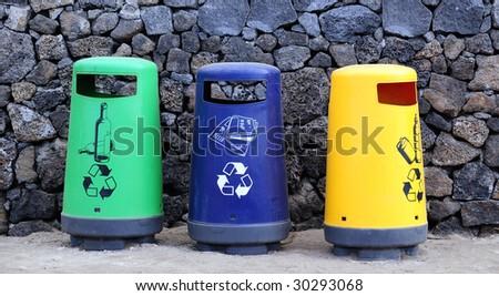 reclying bin - stock photo