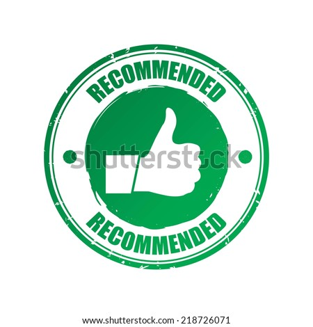Recommended green stamp. - stock photo