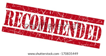 Recommended grunge red stamp - stock photo
