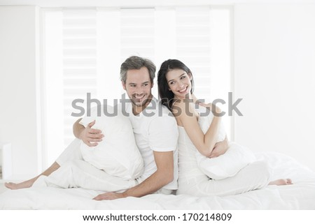 reconciling after an argument - stock photo