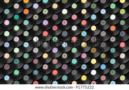 Record Collection - stock photo